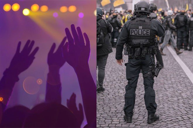 Police use water cannons on thousands of ravers who attend hoax April Fool's rave