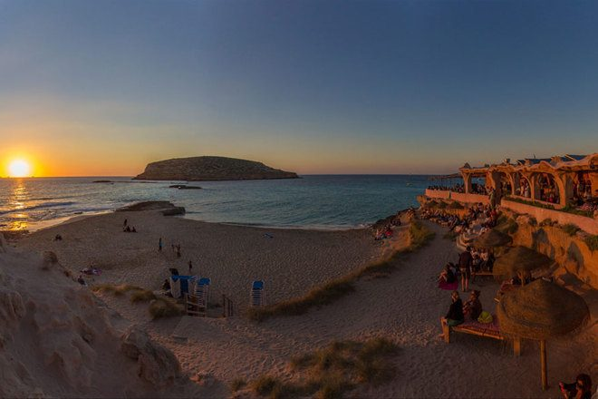 Property developers have bought three miles of Ibiza beachfront