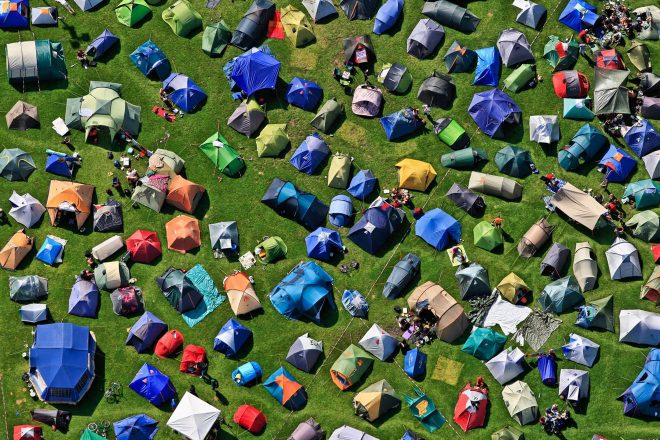 Festival organisers call for ban on disposable tents