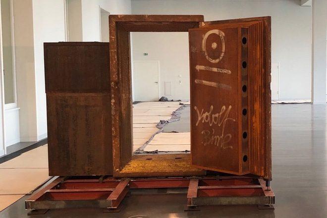 The door of Berlin club Tresor is now on show in a new museum