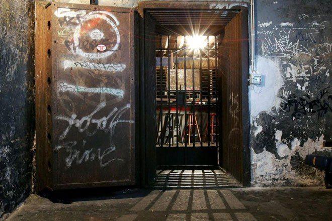 The door of Berlin nightclub Tresor is now an exhibit at a museum