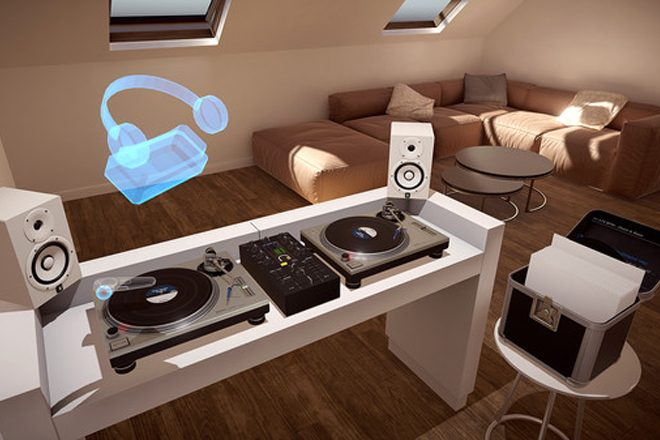 There is now a virtual reality vinyl mixing app