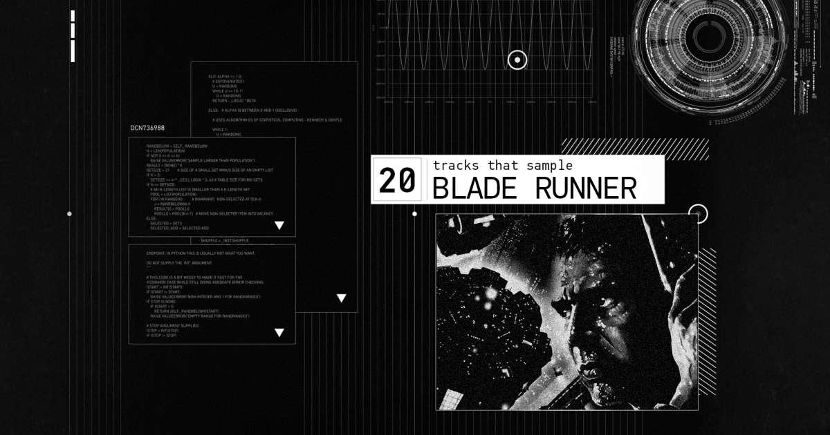 20 of the best tracks that sample Blade Runner