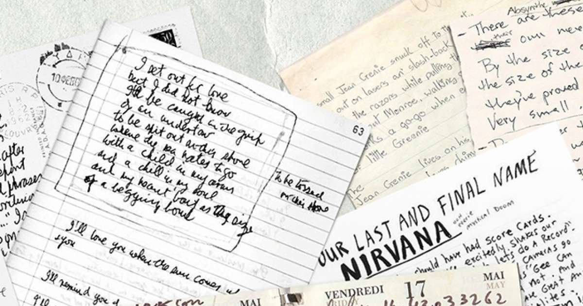 David Bowie and John Lennon's handwriting has been turned