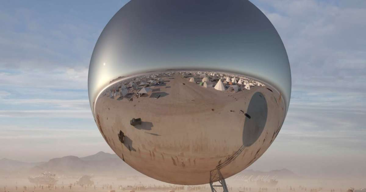 "A giant 100-foot-tall ""disco ball"" is heading to Burning Man this year"