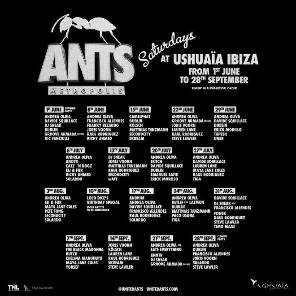 ANTS reveals weekly breakdown for Ibiza season - News - Mixmag