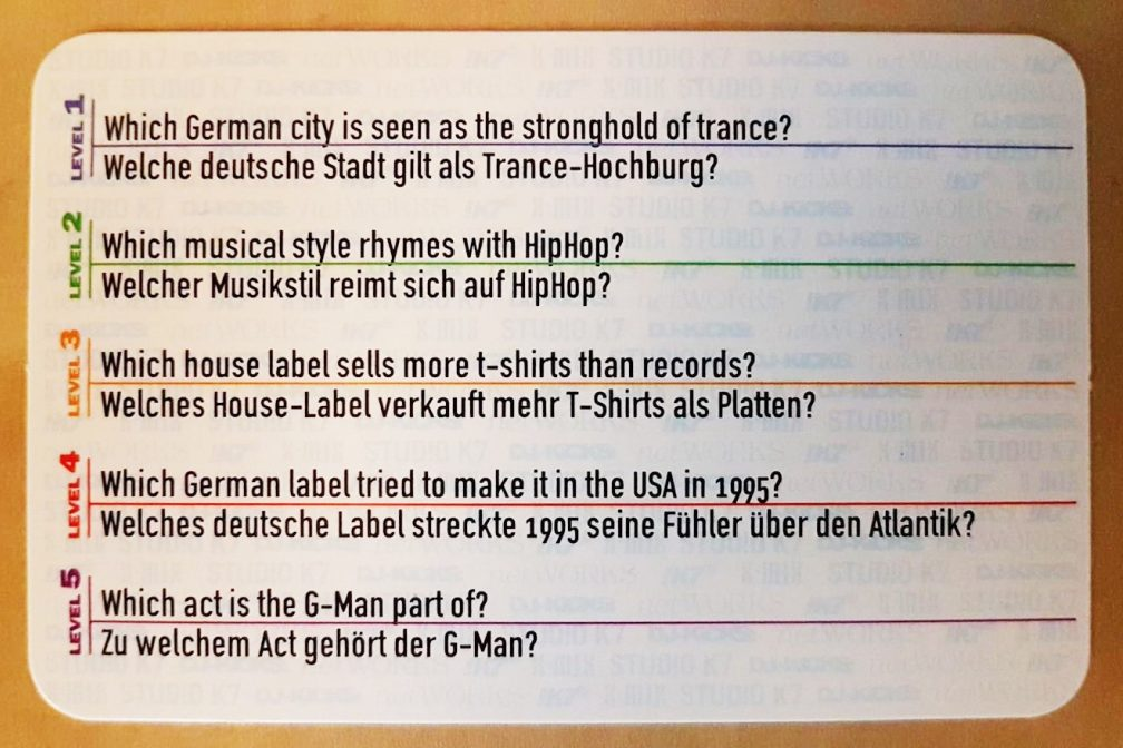 Prove your '90s dance music knowledge with this vintage card