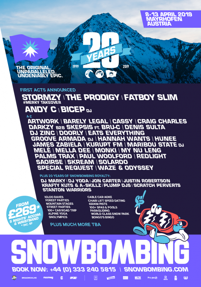 The Prodigy and Stormzy will headline Snowbombing's 20th birthday