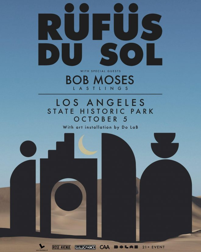 Rüfüs Du Sol are set to play the Los Angeles Historic Park