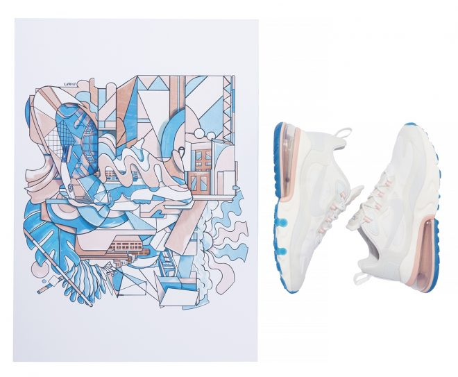 Nike commission young artists for Air Max 270 React bespoke pieces