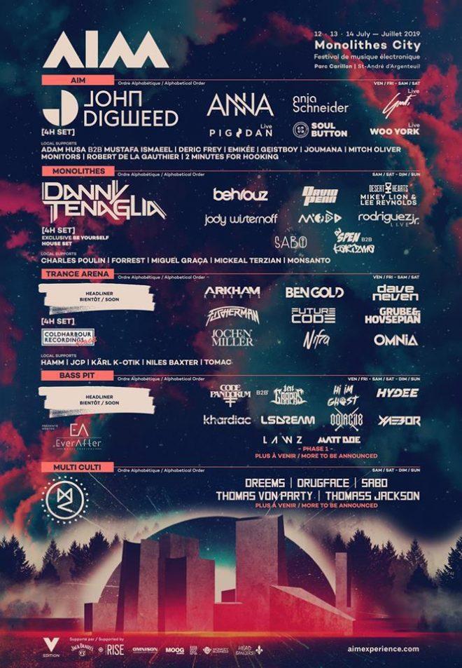 AIM Electronic Music Festival announces 2019 line-up