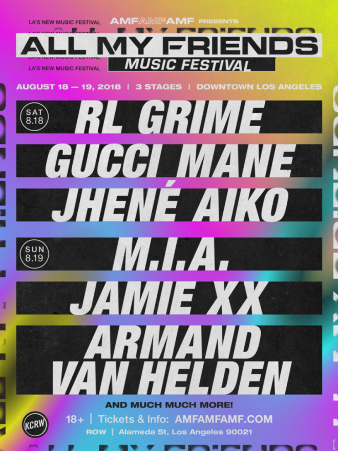 ​Jamie xx, M.I.A and RL Grime headline AMF Festival in Downtown LA