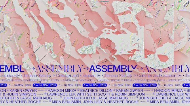 Somerset House Studios announces full lineup for this year's ASSEMBLY