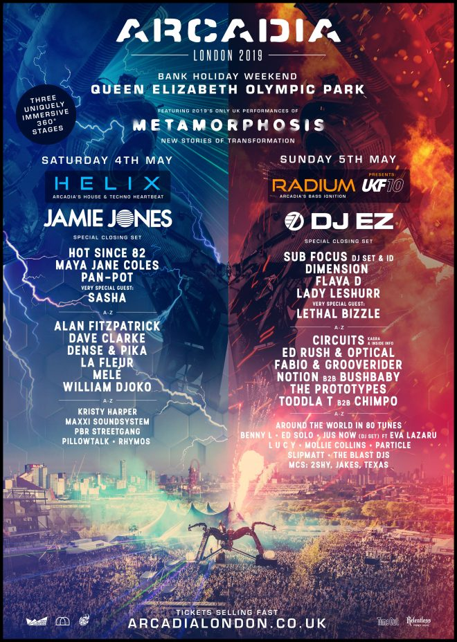 Arcadia London drops fiery line-up for May bank holiday party