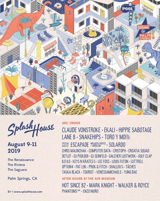 Splash House reveals line-up for its August 2019 edition