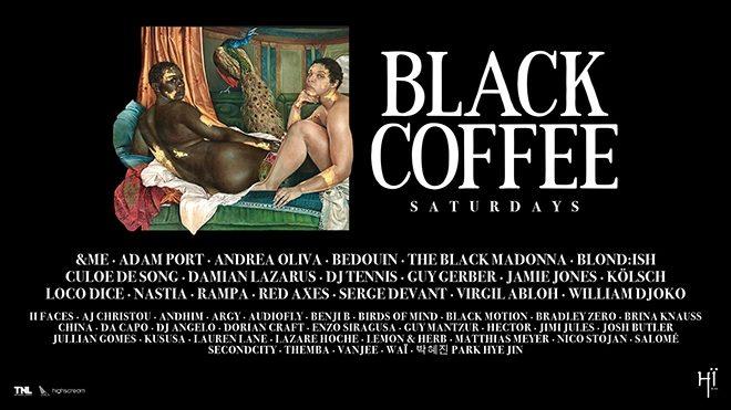 Full line-up for Black Coffee's Hï Ibiza residency revealed