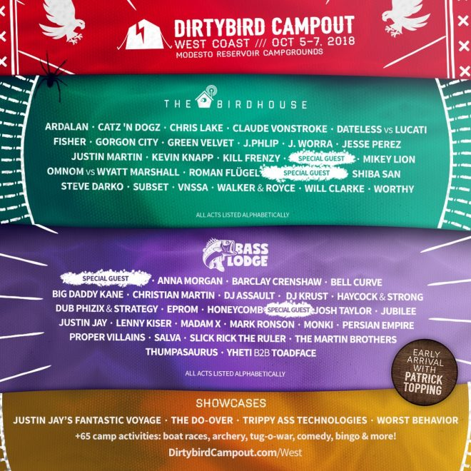 ​Dirtybird Campout reveals line-up with Roman Flügel, Madam X, Chris Lake and more