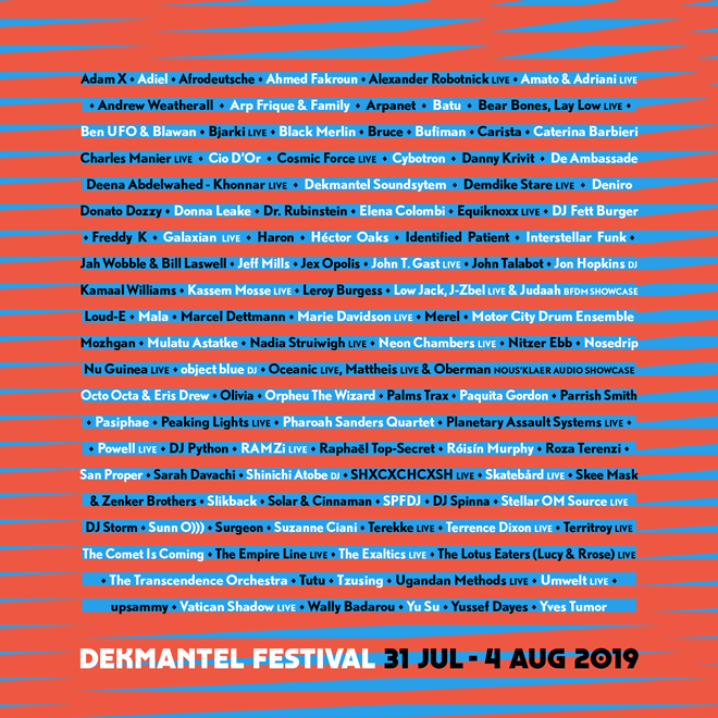 Dekmantel delivers again with a stellar 2019 line-up