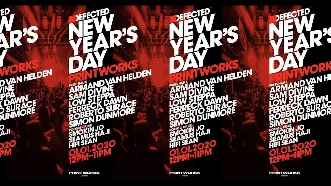 Defected drops lineups for its New Year's Eve and Day parties at Printworks