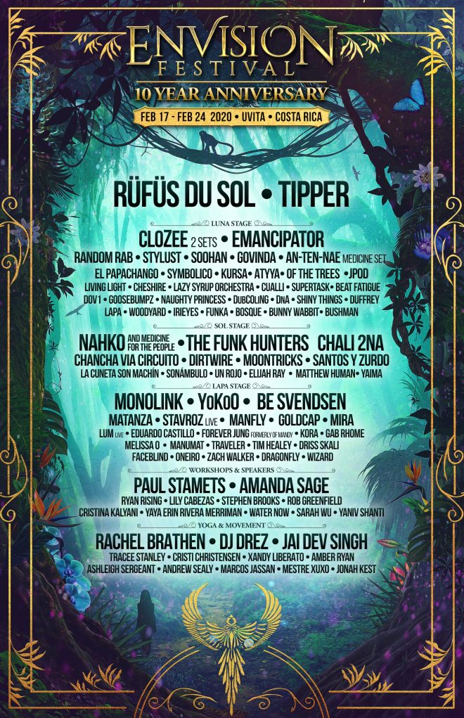 Envision Festival announces line-up for 2020