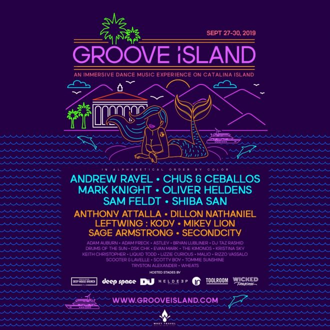 Groove Island reveals line-up for its Catalina takeover