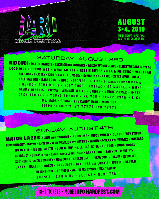 ​HARD Summer reveals its complete 2019 line-up