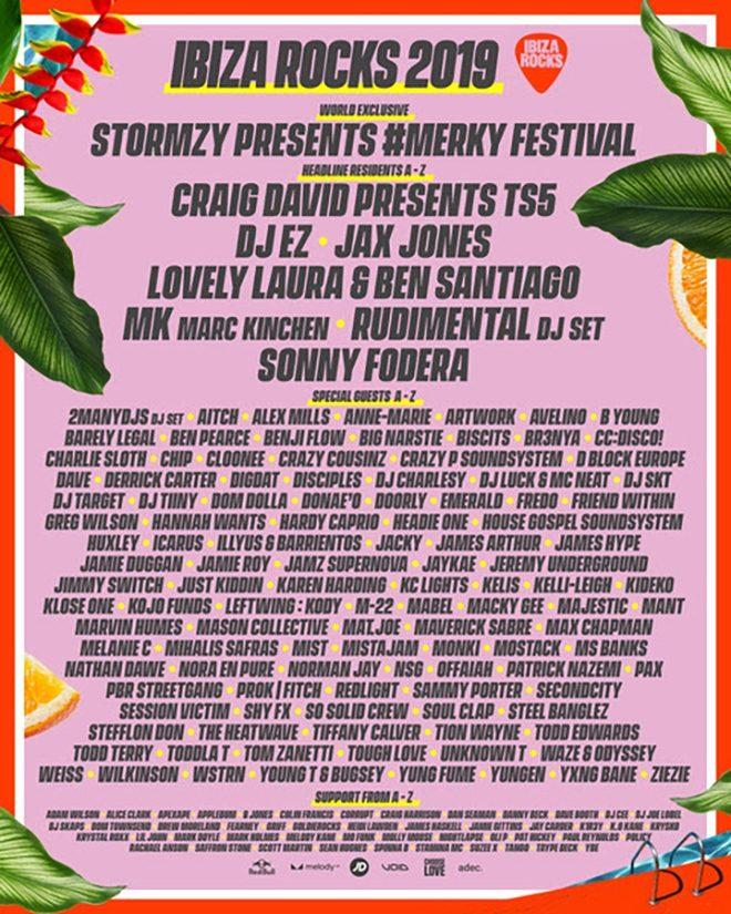 Ibiza Rocks' full summer line-up includes the return of Stormzy's #Merky Festival