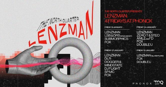 Lenzman will host Four Fridays at Phonox