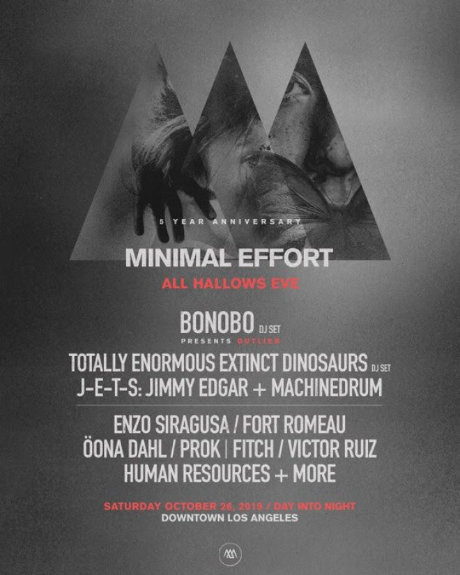 Minimal Effort LA reveals All Hallow's Eve 2019 line-up