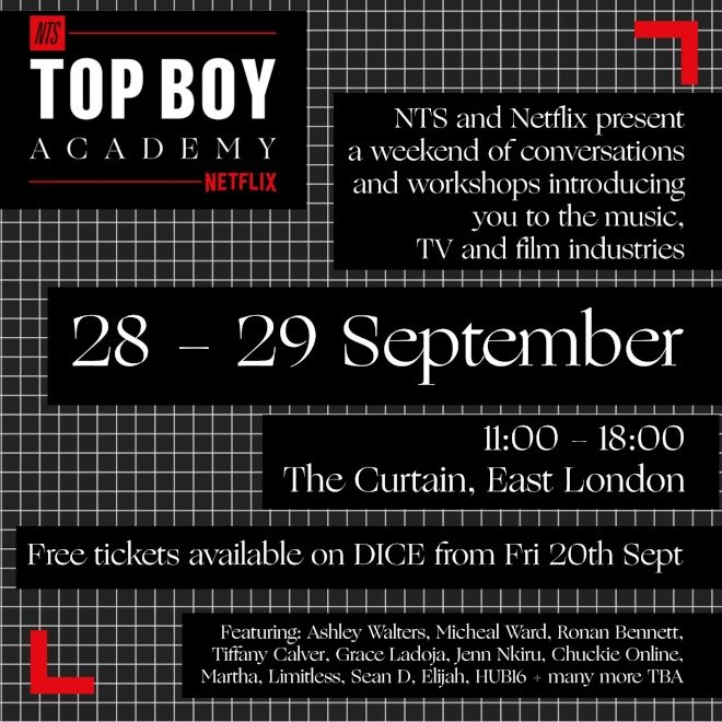 NTS and Netflix have launched the Top Boy Academy