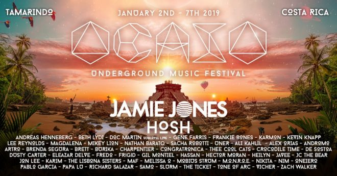 Costa Rica's Ocaso Festival reveals line-up with Jamie Jones, H.O.S.H and more