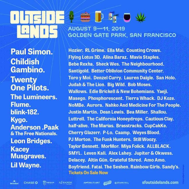 ​Outside Lands 2019 approved for on-site sale and consumption of marijuana