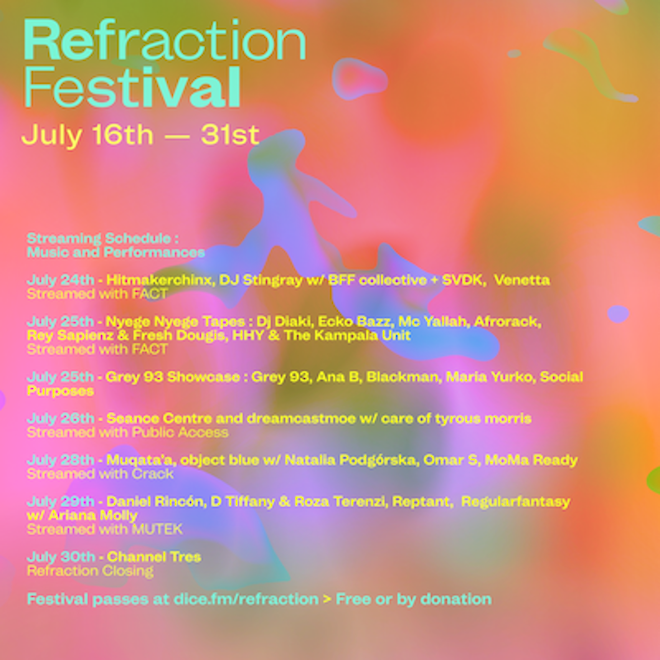 Refraction Festival kicks off this weekend with sets from Mathew Jonson, Ciel, Yu Su and more