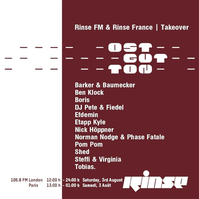 Ostgut Ton celebrates anniversary with a Rinse takeover