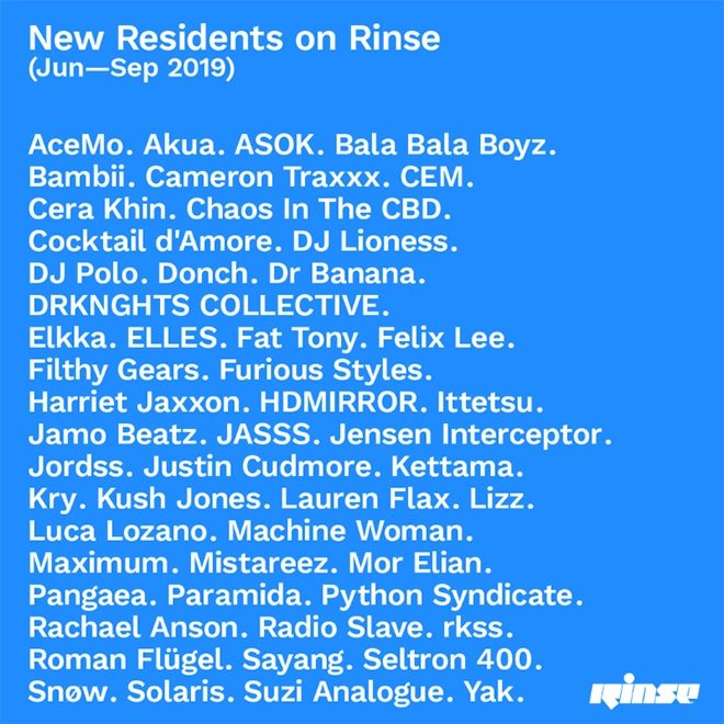 Chaos in the CBD, Pangaea and Roman Flügel among those to host upcoming residencies on Rinse