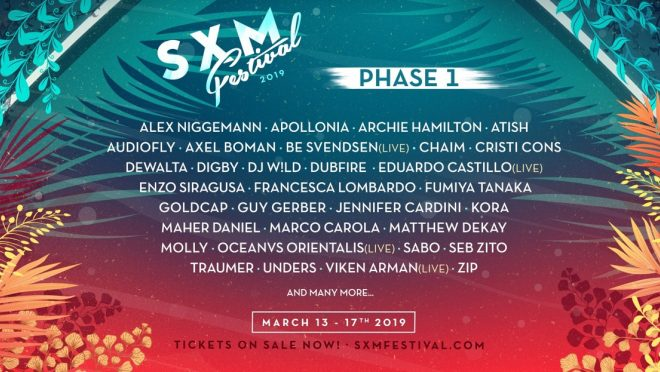 SXM Festival 2019 reveals phase one line-up with Axel Boman, Guy Gerber and Dubfire
