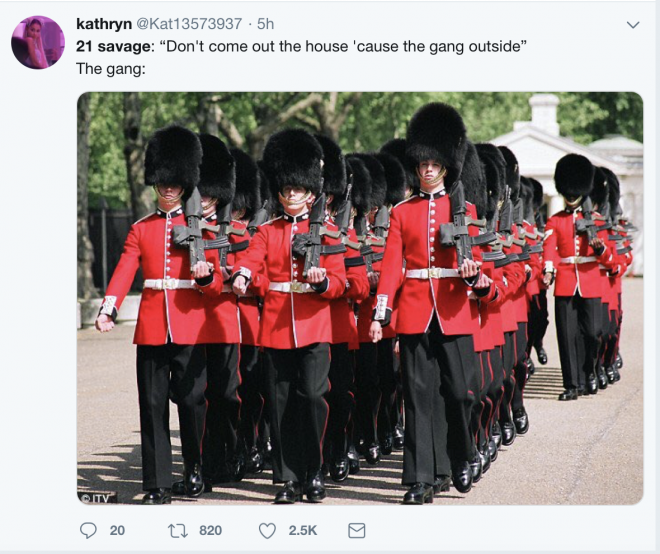 21 Savage is actually British and Twitter is going to town on him