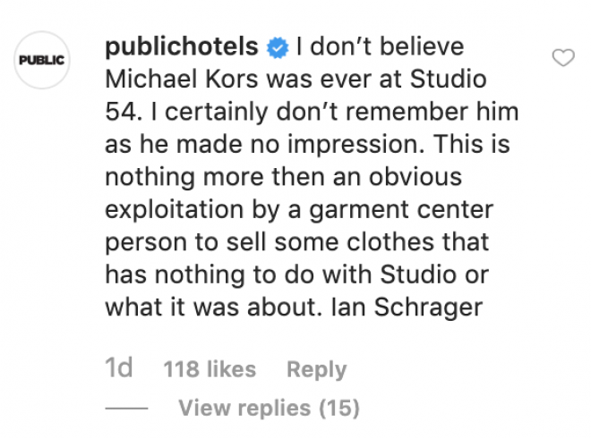 Studio 54 co-founder slams Michael Kors for his new line
