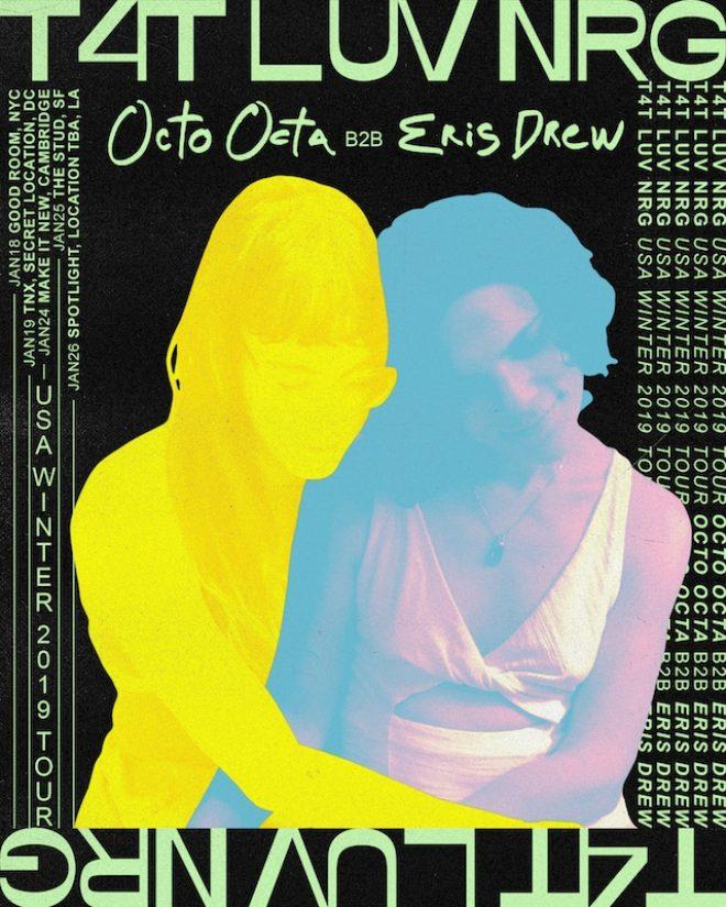 Octo Octa and Eris Drew announce US winter tour