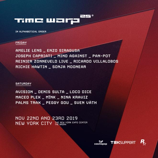 time warp 2019 new york lineup