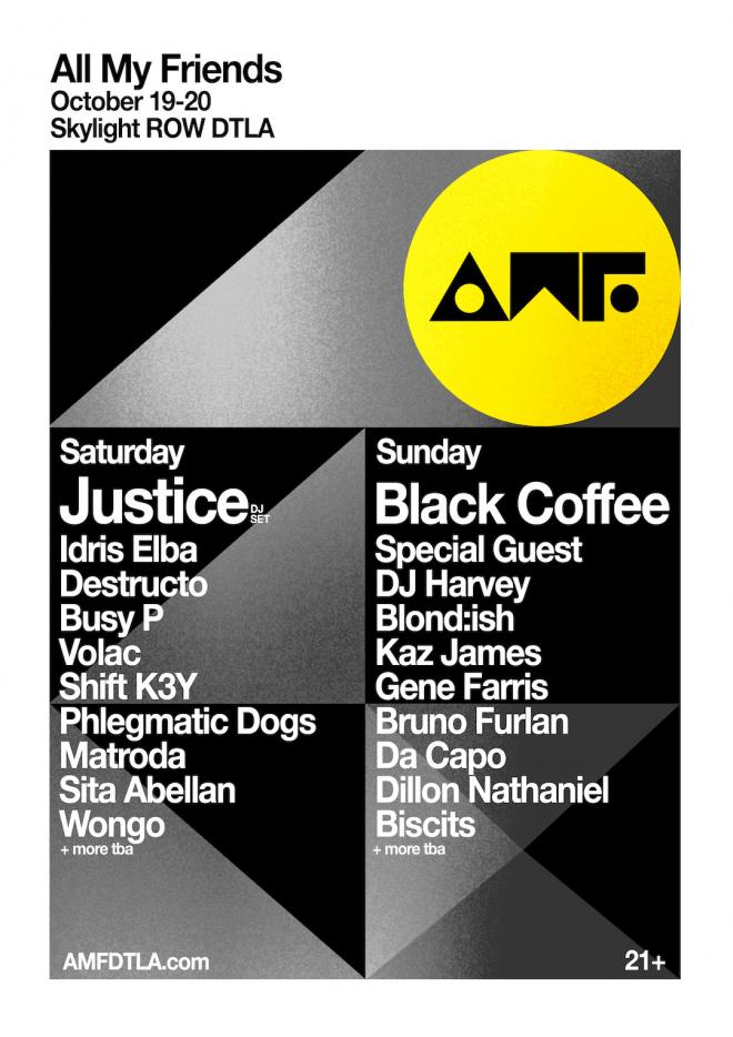 Justice, Black Coffee, Idris Elba headline All My Friends festival in LA