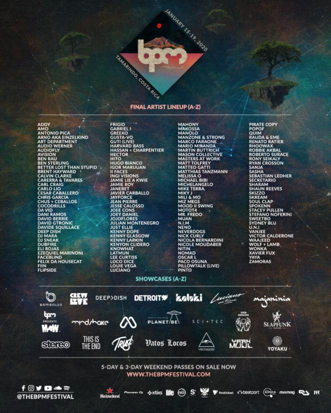 BPM festival announces full line-up for 2020
