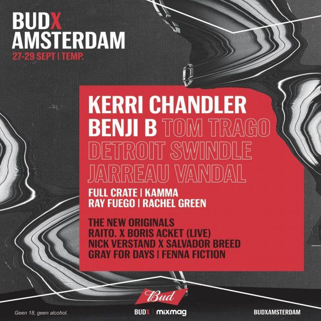Kerri Chandler and Benji B to headline BUDX Amsterdam