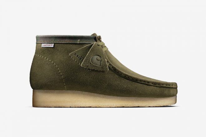 Carhartt WIP has collaborated with Clarks Originals to rework the iconic Wallabee