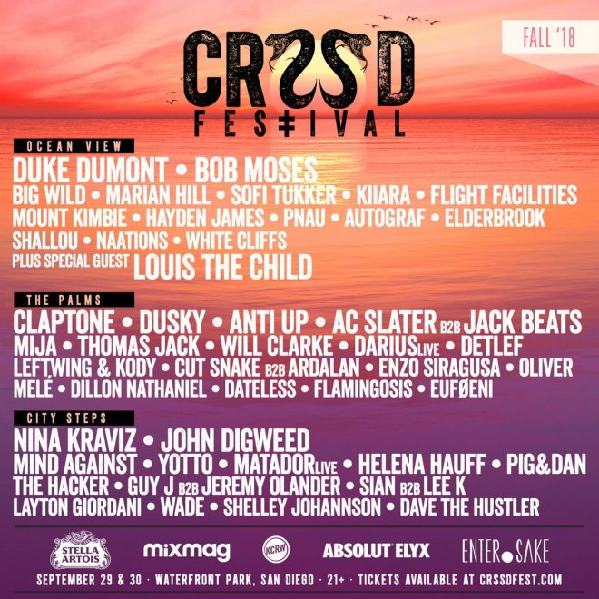 CRSSD Fall 2018 drops phase two line-up with Mount Kimbie, Will Clarke, Mija