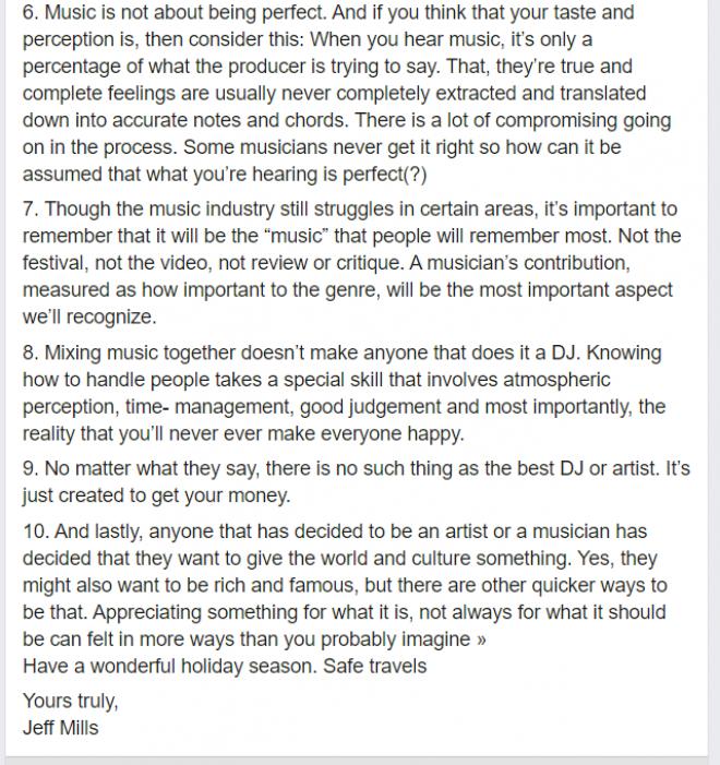 Jeff Mills has written 10 DJ commandments