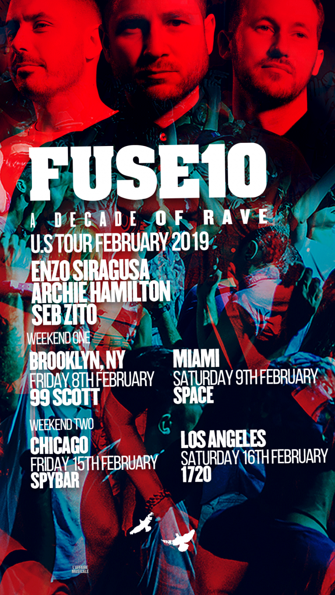 FUSE brings A Decade of Rave 10 year anniversary tour to North America
