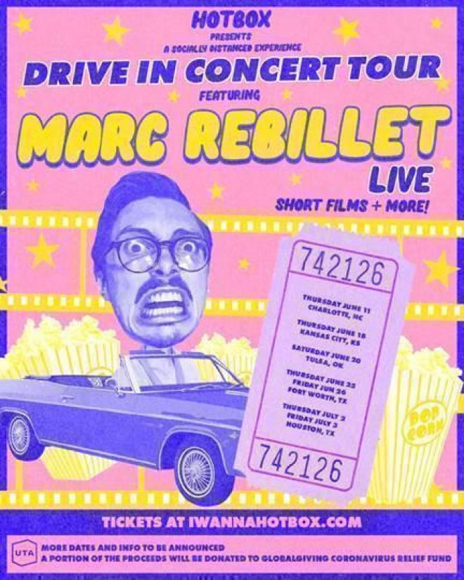 Marc Rebillet announces the first-ever US drive-in concert tour