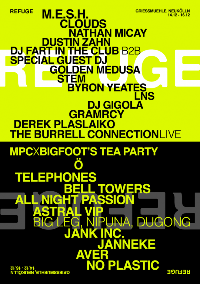 Refuge announces two winter fundraisers in Berlin and Bristol