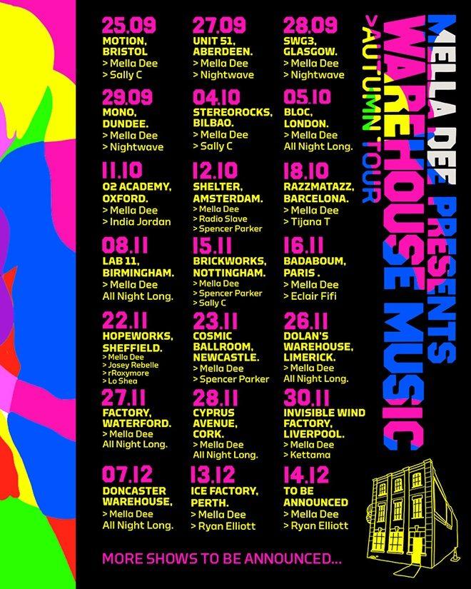Mella Dee has announced his Warehouse Music autumn tour